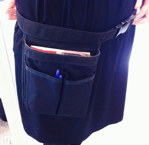 Library staff get to wear these fabulous 'toolkit' belts.